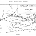 Niagara Peninsula Indian Trails Map c. 1770.